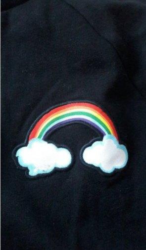 H&M Sweater Sweatshirt Pulli Pullover Jumper Regenbogen Rainbow L