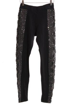 H&M Pantalone fitness nero stile stravagante
