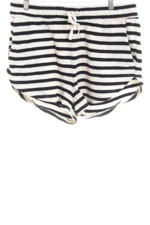 H&M Joggingbroek zwart-wit gestreept patroon casual uitstraling