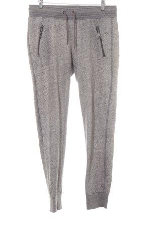H&M Joggingbroek lichtgrijs-grijs gestippeld casual uitstraling