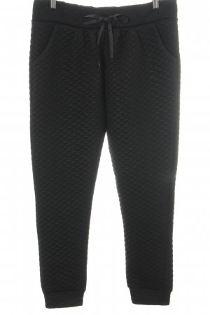 H&M Sweat Pants black quilting pattern casual look