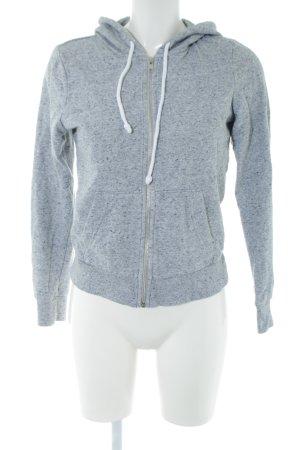 H&M Sweatjacke hellgrau Allover-Druck Casual-Look