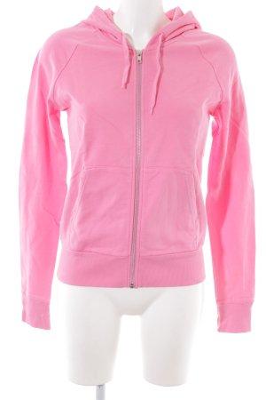 H&M Chaqueta de tela de sudadera rosa look casual