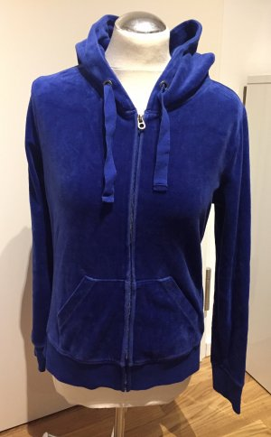 H&M: Sweatjacke Samt Royalblau Gr. M