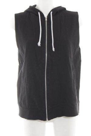 H&M Chaqueta de tela de sudadera negro look casual