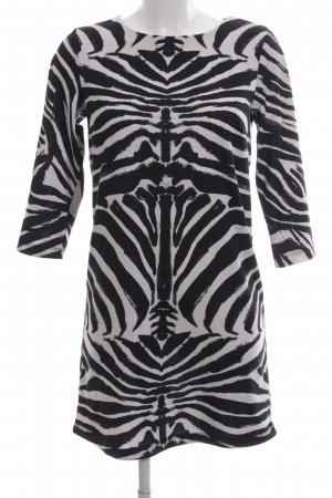 H&M Sweat Dress black-white animal pattern casual look