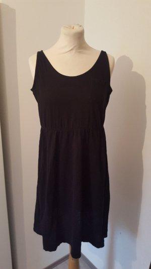 H&M Sweatkleid Freizeitkleid mit Brusttasche Größe M schwarz