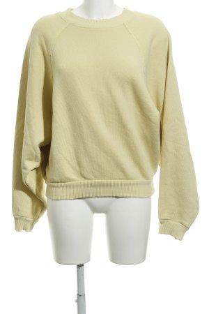 H&M Sweatshirt blassgelb Casual-Look