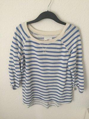 H&M Sweatshirt Blau/ Weiß gestreift