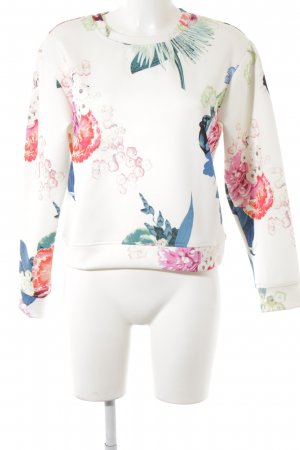 H&M Sweatshirt Blumenmuster Casual-Look