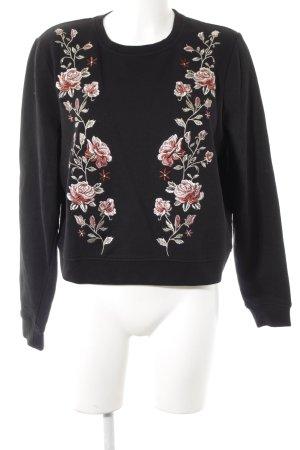 H&M Sweatshirt Blumenmuster Romantik-Look
