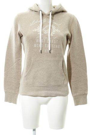 H&M Sweatshirt camel Schriftzug gedruckt Casual-Look