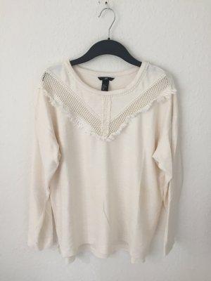 H&M Sweatshirt Creme mit Ethno Details