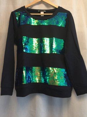 H&M Sweatshirt gestreift mit Pailletten