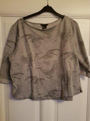 H&M Sweatshirt grau 38