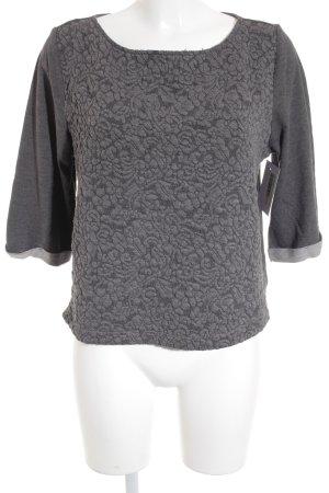 H&M Sweatshirt grau abstraktes Muster Casual-Look