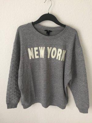 H&M Sweatshirt Grau mit Print