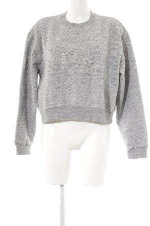H&M Sweatshirt hellgrau-schwarz Webmuster Casual-Look