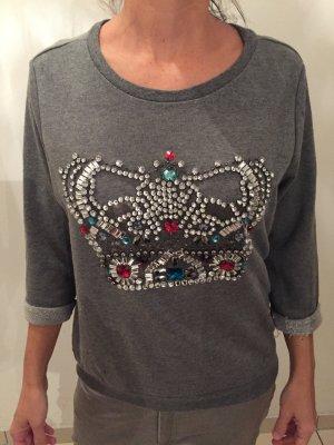 H&M Sweatshirt mit Glitzer Krone S glamouröse Impressionen