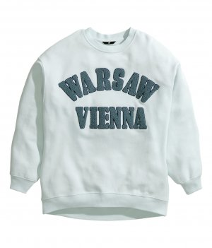h&m Sweatshirt S/38 Warsaw Vienna mintgrün oversize blogger trend zara