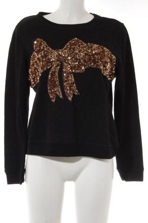 H&M Sweatshirt schwarz-bronzefarben Casual-Look