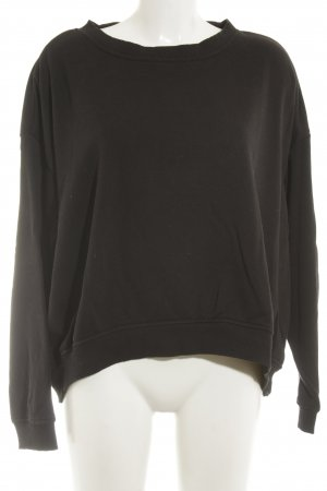 H&M Sweatshirt schwarz Casual-Look