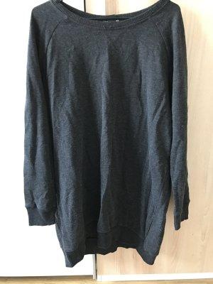 H&M Sweatshirt Sweatkleid M schwarz grau
