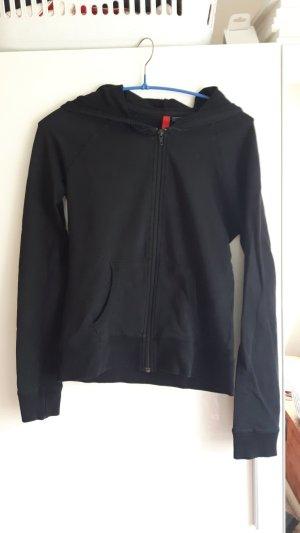 H&M Sweatshirtjacke, schwarz