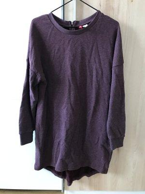 H&M Sweatshirtkleid sweatkleid Weinrot S mit Reißverschluss hinten