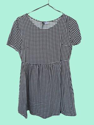H&M Sweet Babydoll dress Black and White Pattern
