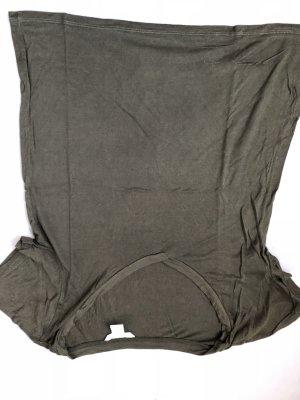 H&M T-shirt donkergroen-khaki