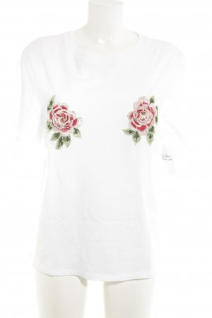 H&M T-Shirt Blumenmuster Casual-Look