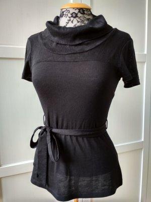 H&M T-Shirt Gr. XS Schalkragen elegant romantisch Rollkragen