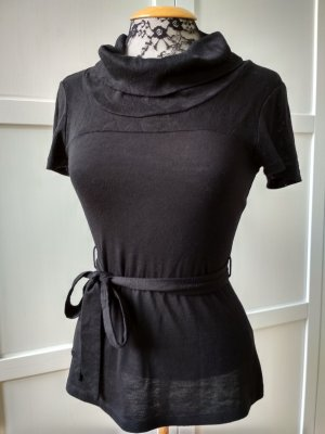 H&M Top taille empire noir viscose