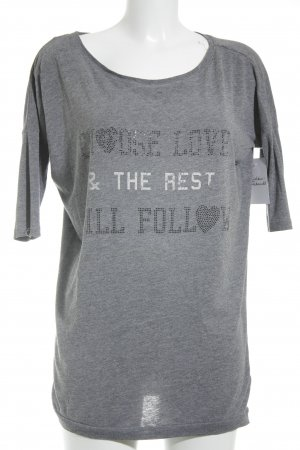 H&M T-Shirt grau Casual-Look