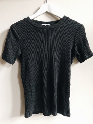 H&M T-Shirt grau kurzärmlig