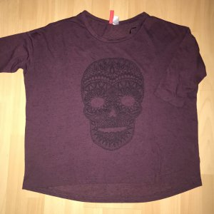 H&M T-Shirt in weinrot