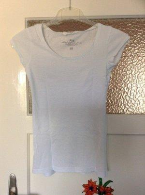 H&M T-Shirt in Weiß Größe XS