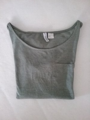 H&M T-Shirt mit Brusttasche