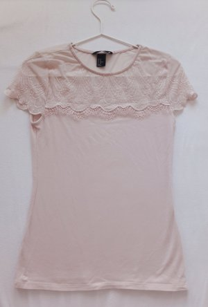 H&M T-shirt mit Spitze