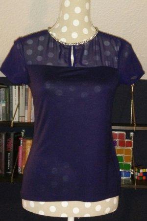 H&M T-Shirt mit Strasssteinchen Gr. 34