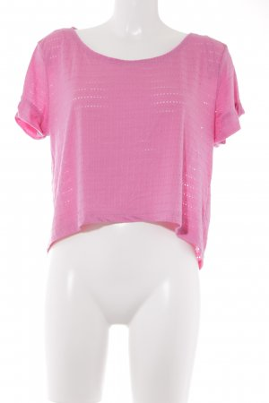 H&M T-shirt roze losjes gebreid patroon casual uitstraling
