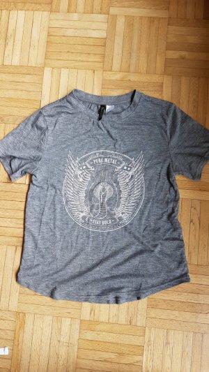 """H&M T-shirt """"pure metal"""" im grau"""