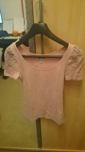 H&M T-Shirt rosa altrosa Spitze Shirt XS