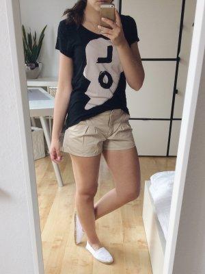H&M T-Shirt schwarz beige Love Gr. 40 34 XS