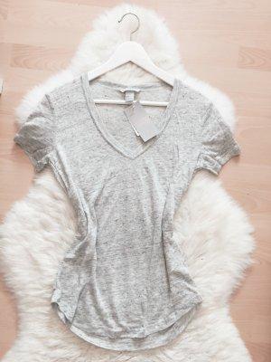 H&M T-Shirt Top Blogger V-Ausschnitt Shirt NEU Gr.S