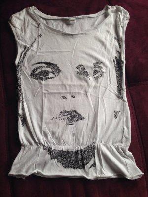 H&M T-Shirt Weiß Größe XS