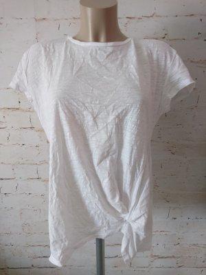 H&M T-Shirt weiß mit Knoten