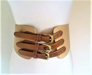 H&M Cintura vita marrone-sabbia