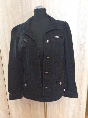H&M  tailliert gearbeitete Jeansjacke Gr 36 schwarz neuwertig